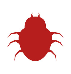Bug virus alert icon vector
