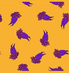 Calligraphy daikon vibrant colours pattern vector