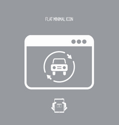 car renovated services icon vector image