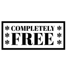 Completely free stamp on white background vector