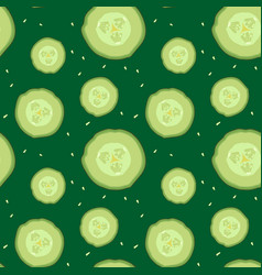 cucumber slices pattern vector image