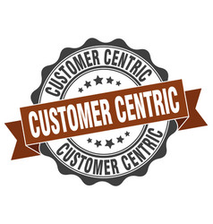 Customer centric stamp sign seal vector