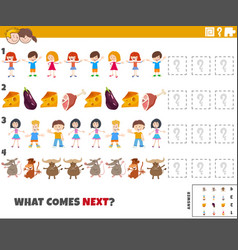 Educational pattern task for preschool and vector