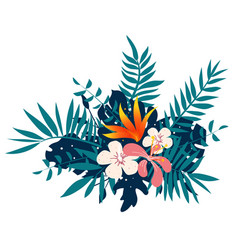 exotic tropical floral bouquet vector image