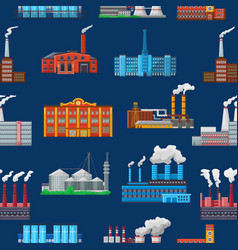 factory industrial building and industry or vector image