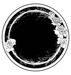 floral roses frame vector image