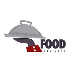 food delivery service restaurant or cafe tray vector image