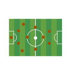 Football field 4-4-2 vector image
