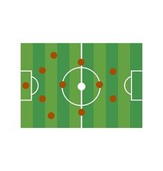 football field 4-4-2 vector image