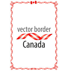 Frame and border of ribbon with the colors canada vector
