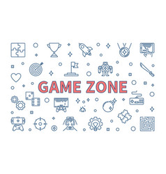 game zone concept in thin line vector image
