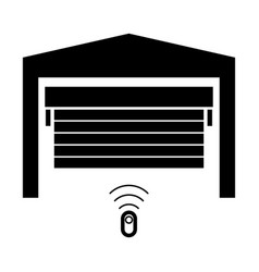 garage door the black color icon vector image