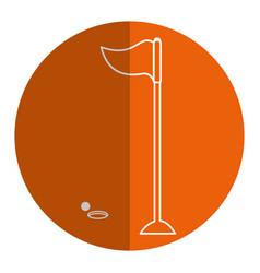 Golf flag isolated icon vector