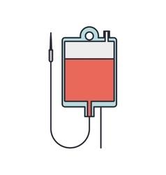 hanging bag for blood donation vector image