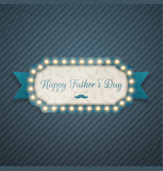 happy fathers day festive blue background vector image