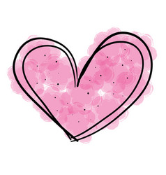 heart love romantic icon vector image