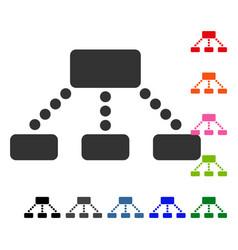 hierarchy framed icon vector image