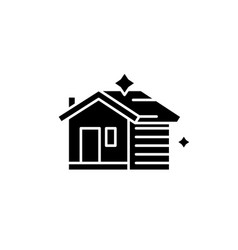house cleaning black icon sign on isolated vector image