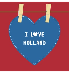 I lOVE HOLLAND5 vector image