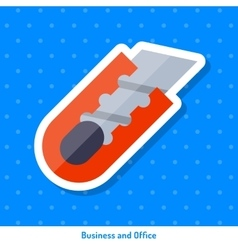 Icon of red knife vector image