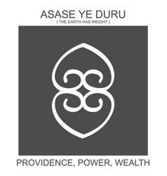 Icon with african adinkra symbol asase ye duru vector