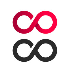 Infinite symbol logo icon vector