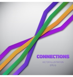 Internet People Connection Lines background vector image