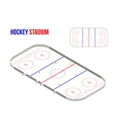 isometric hokkey stadium vector image