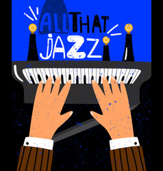 jazz concept poster vector image
