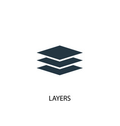 layers icon simple element layers vector image