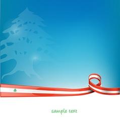 Lebanon ribbon flag vector