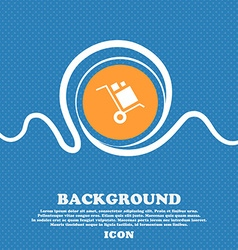 Loader Icon sign Blue and white abstract vector