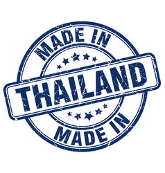made in thailand blue grunge round stamp vector image