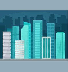 modern cityscape with skyscrapers business vector image