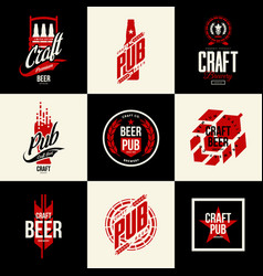 Modern isolated craft beer drink logo sign vector