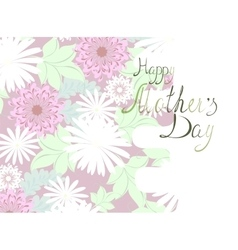 Mothers Day floral greeting EPS10 vector image