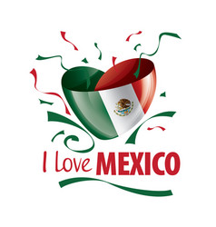 national flag mexico in shape a vector image