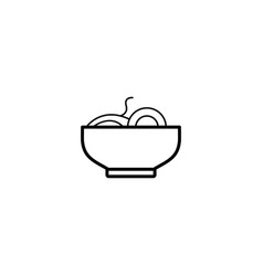 noodles food icon vector image