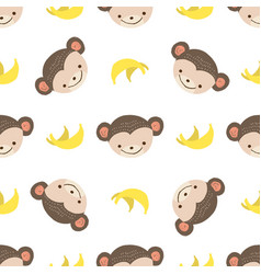 pattern monkey vector image