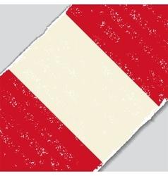 Peruvian grunge flag vector image