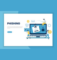 Phishing attack concept vector