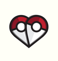 Pokemon love logo template vector