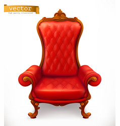 Royal chair 3d icon vector