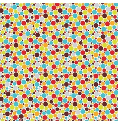 Seamless pattern with cool dots vector image