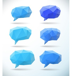 Set of polygonal geometric speech bubble vector image