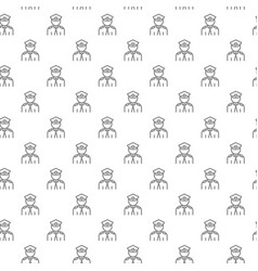 Simple police officer cop seamless pattern with vector