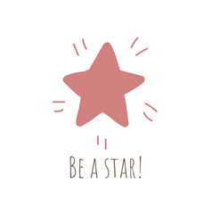 simple with shiny red star vector image