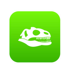 skull of dinosaur icon digital green vector image