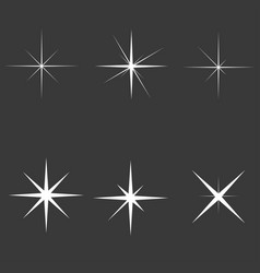 Sparkle lights stars set glowing light effect vector