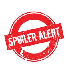 Spoiler alert rubber stamp vector